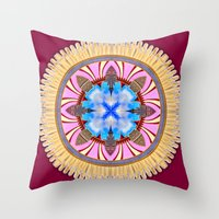 spires Throw Pillows featuring Castle Spires, kaleidoscope by designoMatt