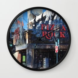 Pizza Rock Las Vegas - Colored Pencil Wall Clock