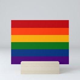 Solid Rainbow Pride Flag Mini Art Print