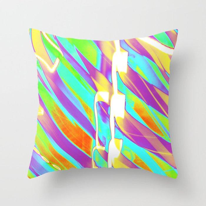 Light Dance Candy Ribs edit1 Throw Pillow