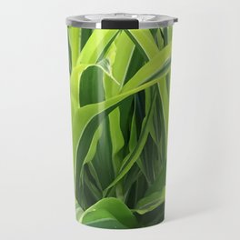 Exotic Lush Green Leaves Travel Mug