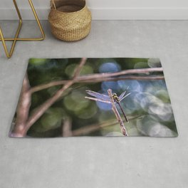 Dragon Fly in Forest Rug
