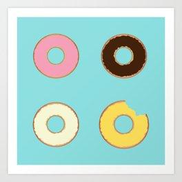 Four Doughnuts (Bitten version) Art Print