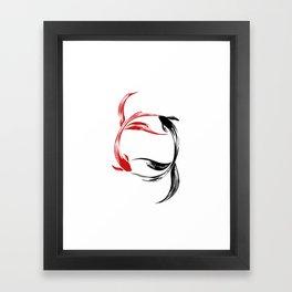 Koi Yin & Yang Framed Art Print