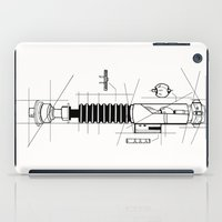 blueprint iPad Cases featuring Lightsaber Blueprint by GNS GRAPHIC