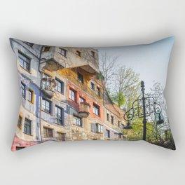 Hundertwasserhaus Vienna Austria Rectangular Pillow