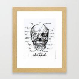 Stripped Framed Art Print