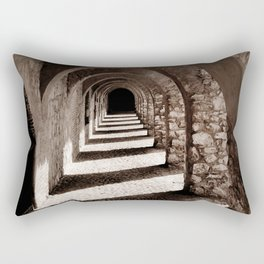 Corridors of Stone Rectangular Pillow