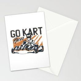 Go Kart Racer Stationery Cards