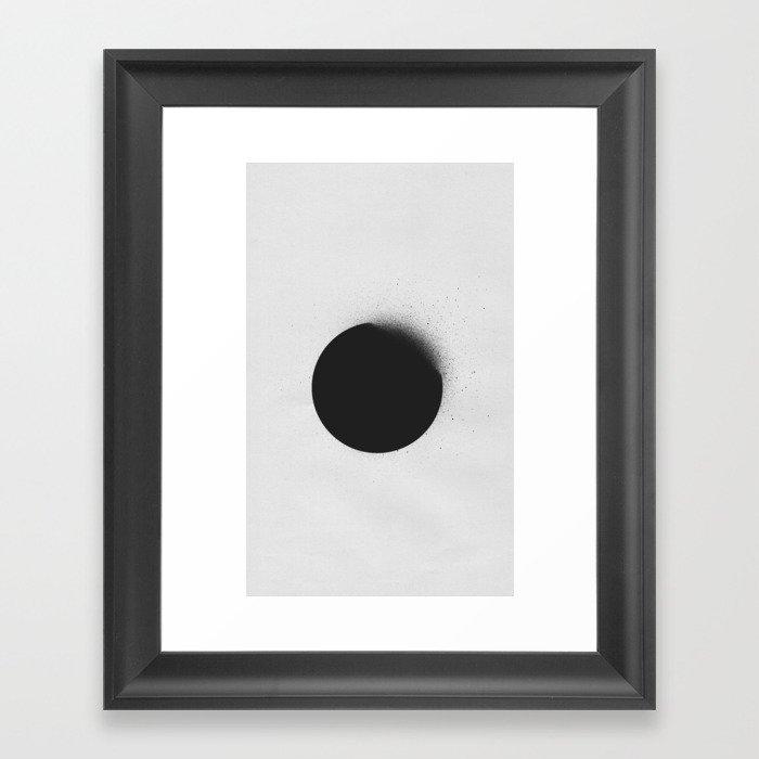 black 01 Framed Art Print