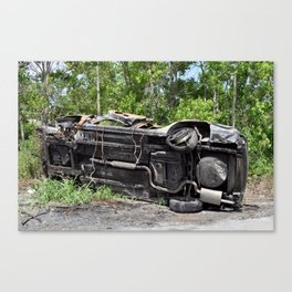 Flipped Car - New Orleans, Louisiana Canvas Print