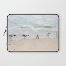 Beach Birds, photography by Tiffany Dawn Smith Laptop Sleeve