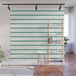 Kelly Green Breton Stripes Wall Mural