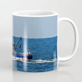 Fishing on the Sea 2 of 3 Port side view Coffee Mug