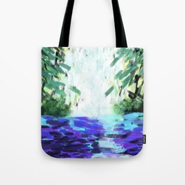 Waterfall in motion Tote Bag