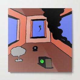 dystopian bedroom Metal Print