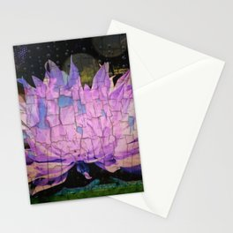Crackling Lonesome Flower Stationery Cards