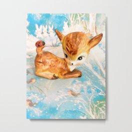 fawn on ice Metal Print