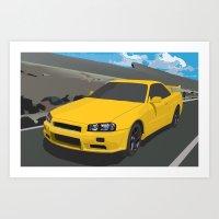 Nissan Skyline GT-R Art Print