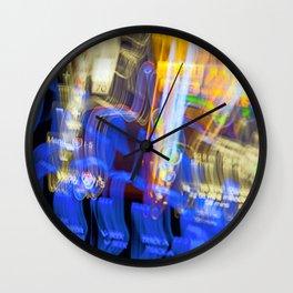 Lights at Night  -  Long Exposure Wall Clock