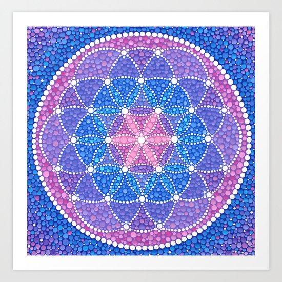 Starry Flower of Life Art Print
