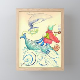 The Genius and the Lamp Framed Mini Art Print