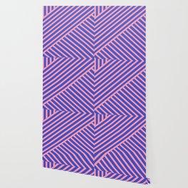 Crossing Lines - Pink & Blue Wallpaper