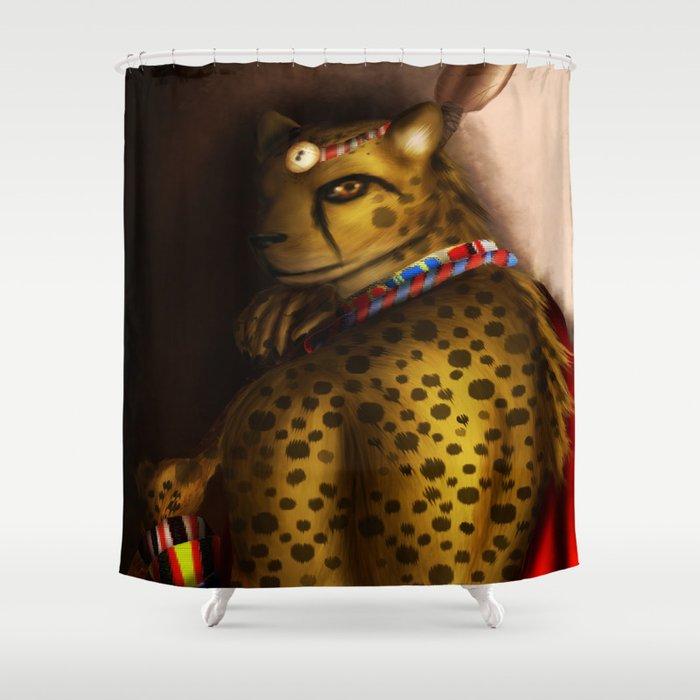 Samburu Cheetah Shower Curtain By Lianfeaorne