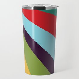 Bright Rays of Light - Circus Tent - Pride Beams - 57 Montgomery Ave Travel Mug