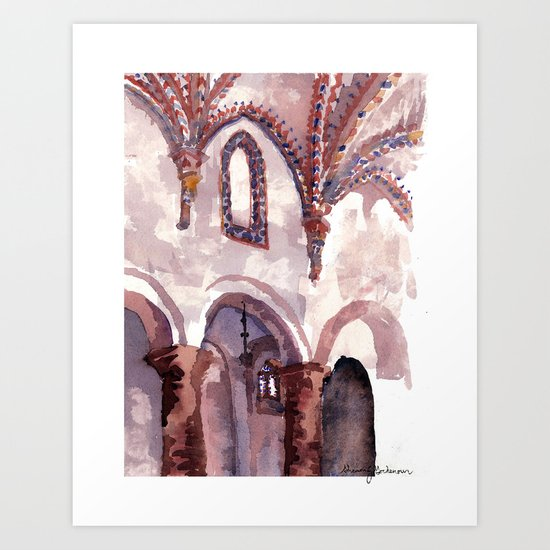 To hear all the singing Art Print