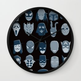 Pick Your Disguise Wall Clock