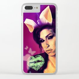 Dead and Famous: A. Winehouse Clear iPhone Case