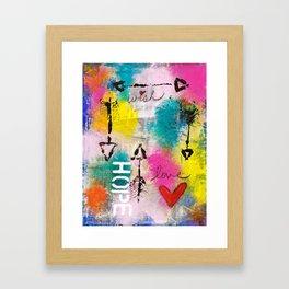 Wish Love Hope Framed Art Print