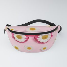 Pink sunglasses with daisies Fanny Pack