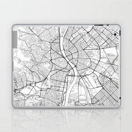 Budapest Map White Laptop & iPad Skin