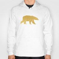 gold foil Hoodies featuring Gold Foil Polar Bear by Mod Pop Deco
