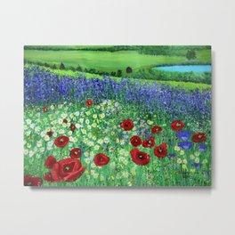 Blooming field Metal Print