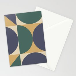 Mid Century Modern Geometric Abstract 343 Stationery Cards