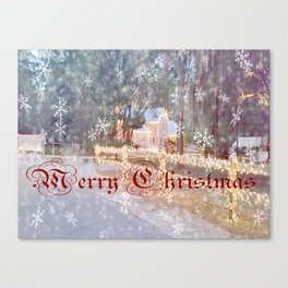 Country Merry Christmas Canvas Print