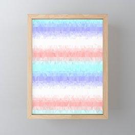 Pastel Stripes Framed Mini Art Print