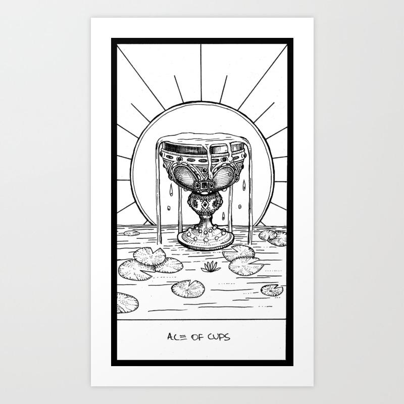 Ace Of Cups Art Print by Corinneelyse PRN3072830