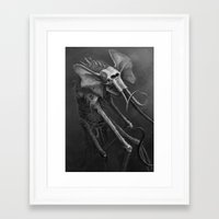 dumbo Framed Art Prints featuring Dumbo by The Art of Austen Mengler