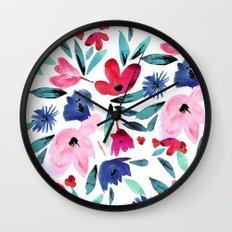LeiLani Flower Wall Clock