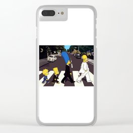 Crossing Abbey Road cartoon animation Clear iPhone Case