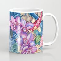 splash Mugs featuring Orchid Splash by Vikki Salmela