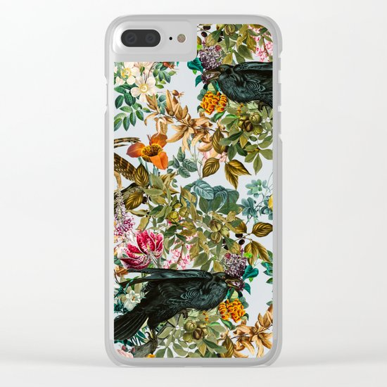 FLORAL AND BIRDS VI Clear iPhone Case