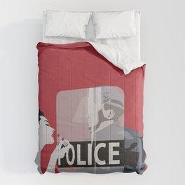 Red woman n3 Comforters