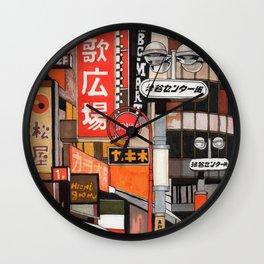 Tokyo Street Signs Wall Clock