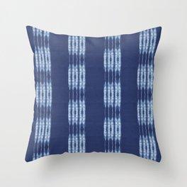 Shibori scratched Throw Pillow