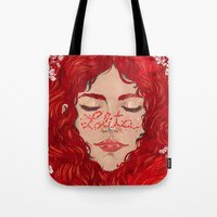 lolita Tote Bags featuring Lolita  by Nicolae Negura